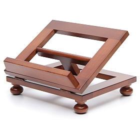 Leggio da tavolo legno noce 25x20 cm s2