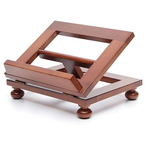 Leggio da tavolo legno noce 25x20 cm 2