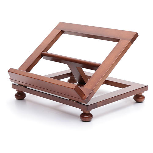 Pupitre de table bois noyer 30x24 cm 2