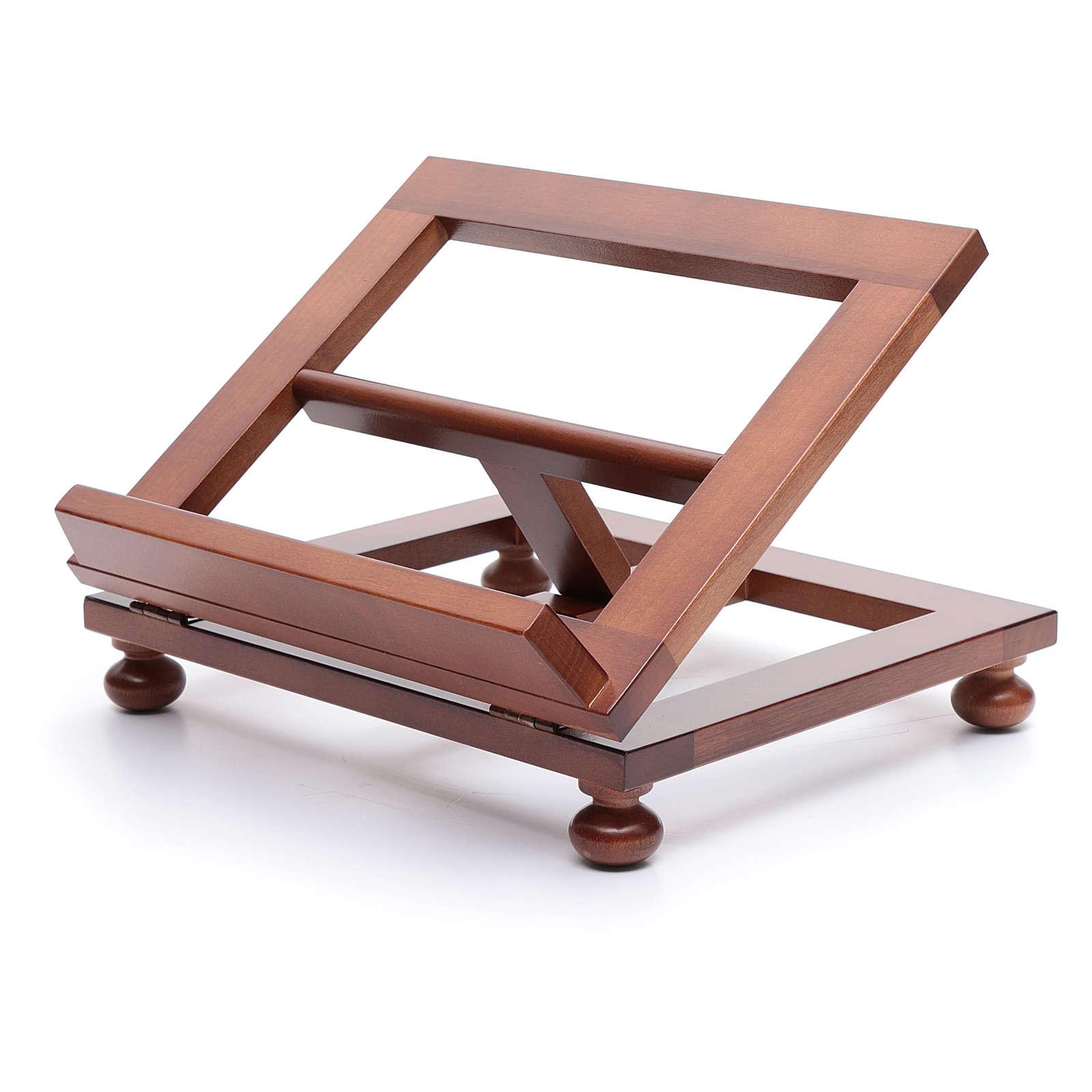 Leggio da tavolo legno noce 30x24 cm 4