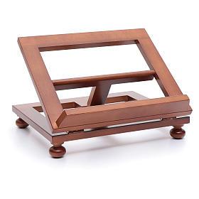Leggio da tavolo legno noce 30x24 cm s4