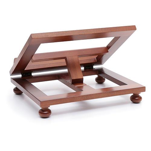 Leggio da tavolo legno noce 30x24 cm 3