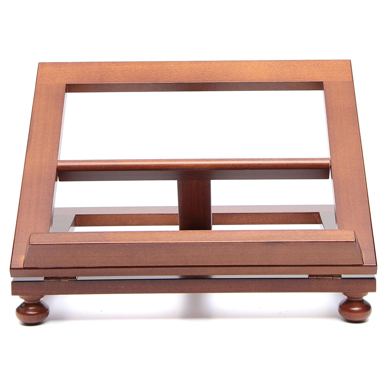 Atril de mesa madera de nogal 35x28 cm 4