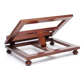 Atril de mesa madera de nogal 35x28 cm s4
