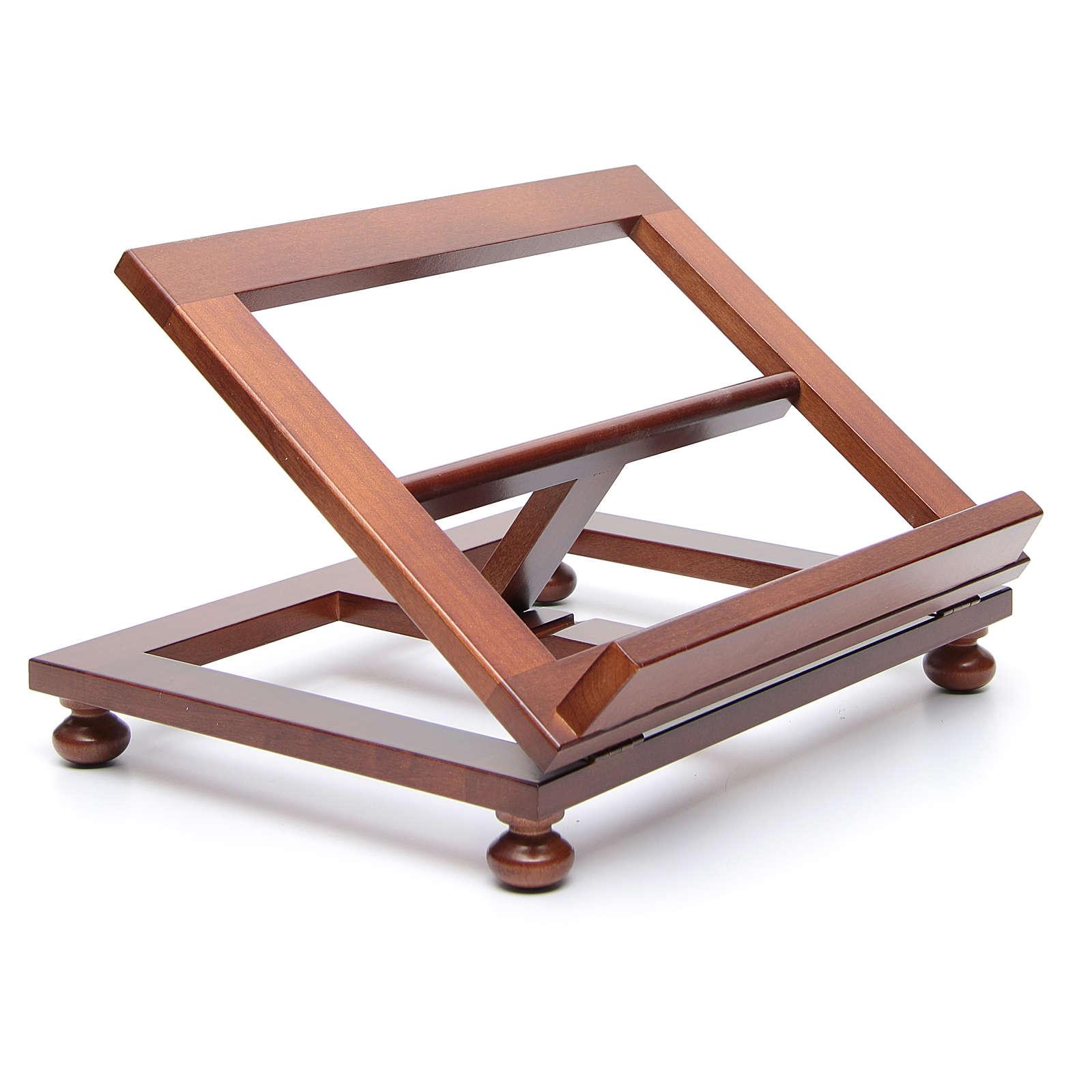 Pupitre de table bois noyer 35x28 cm 4