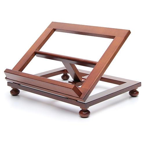 Pupitre de table bois noyer 35x28 cm 2