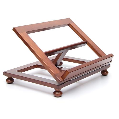 Pupitre de table bois noyer 35x28 cm 3