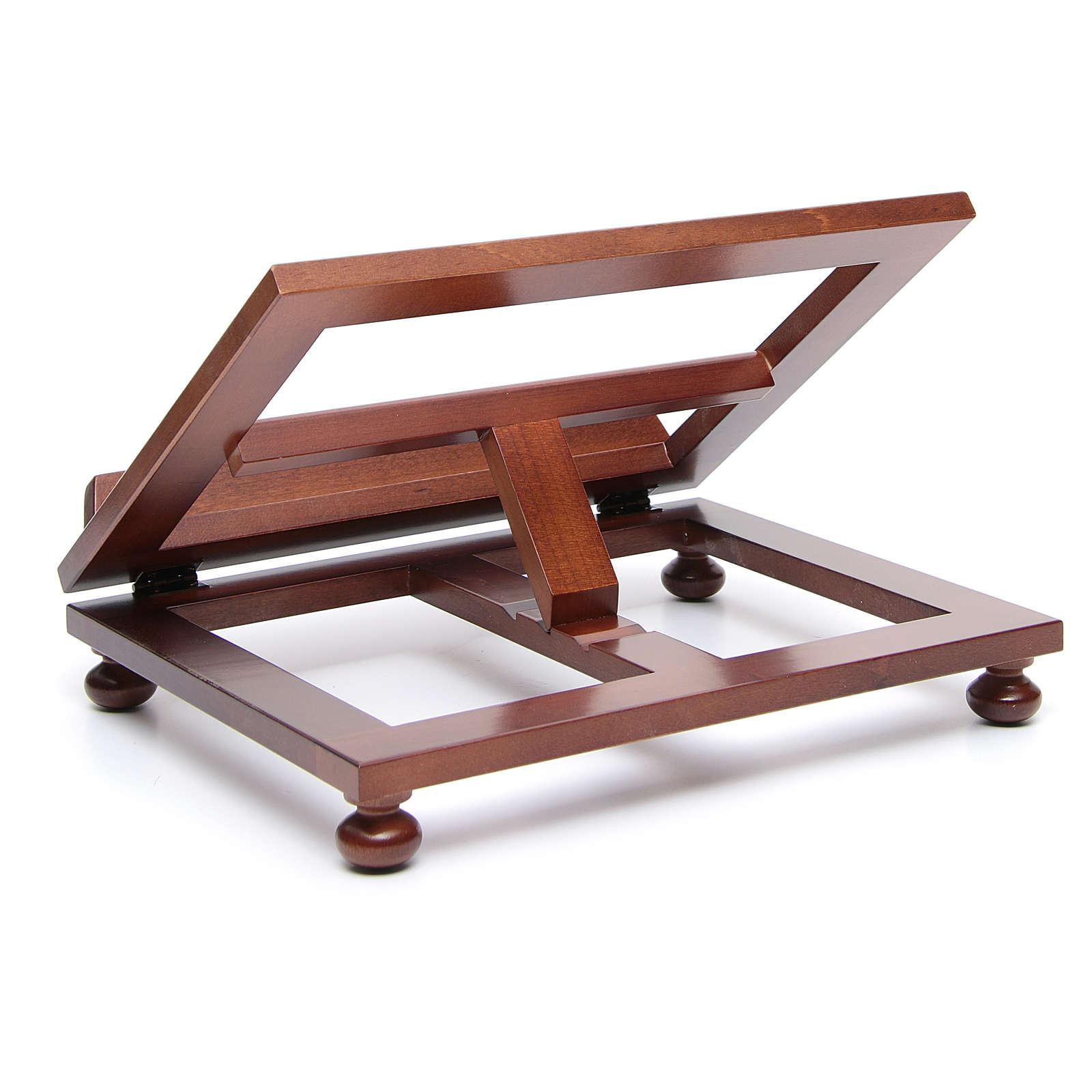 Leggio da tavolo legno noce 35x28 cm | vendita online su HOLYART