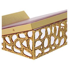 Atril de mesa latón fundido dorado y simil cuero red dorada s2