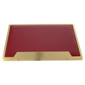 Atril de mesa latón fundido dorado y simil cuero red dorada s5