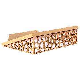 Atril de mesa latón fundido dorado y simil cuero red dorada