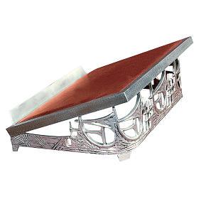 Atril de mesa latón fundido plateado rayos s1