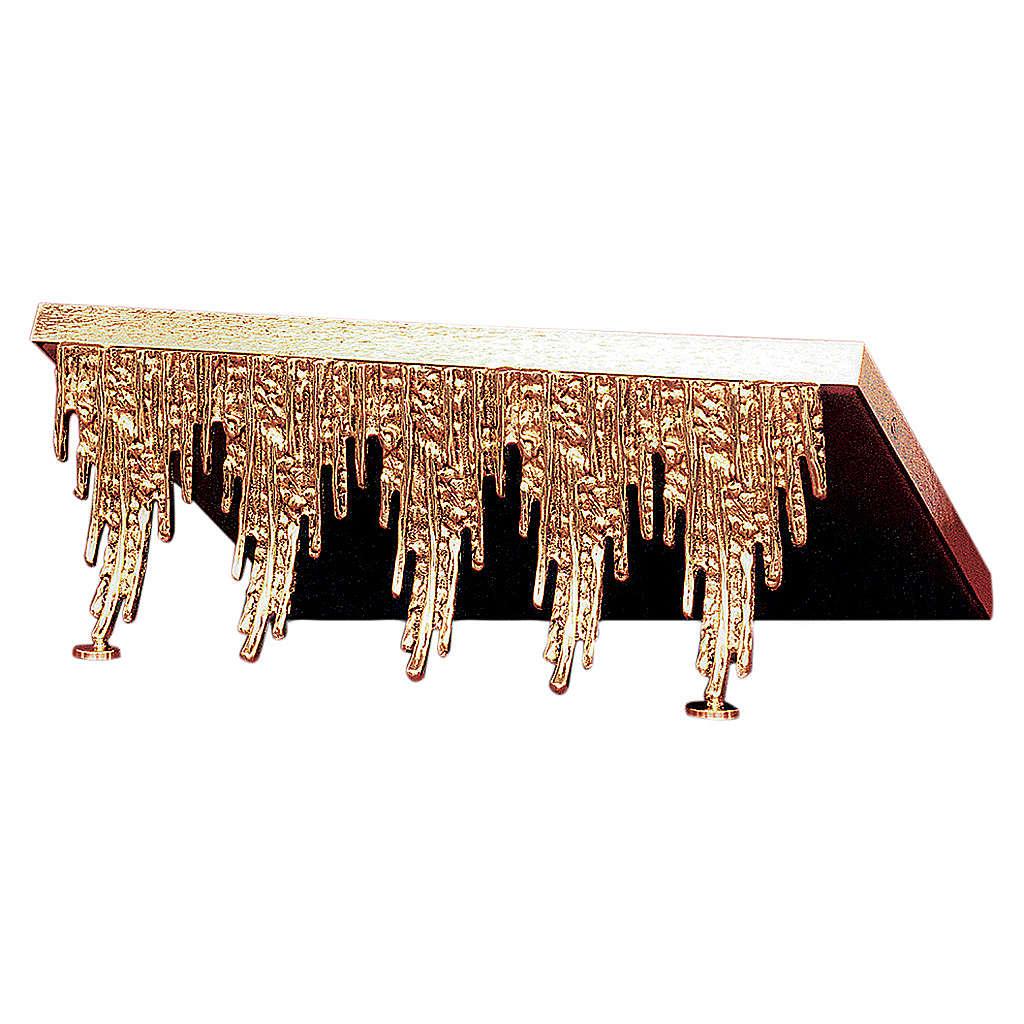 Atril de mesa latón fundido cascada dorada 4