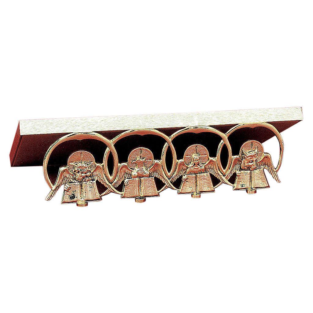Leggio da messa ottone fuso oro quattro Evangelisti 4
