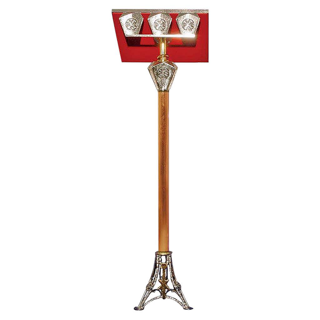 Leggio a stelo ottone fuso bicolore 107 cm 4