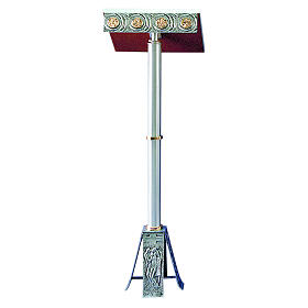 Leggio a stelo 110 cm ottone fuso bicolore s1