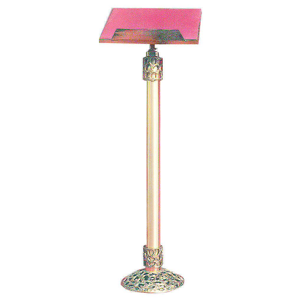 Lectern in 24K gold plated cast brass 105cm 4