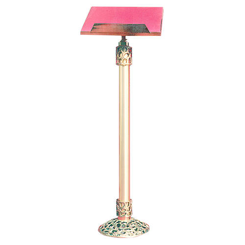 Lectern in 24K gold plated cast brass 105cm 2