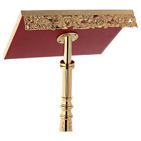 Atril con columna latón fundido y oro 24K estilo barroco