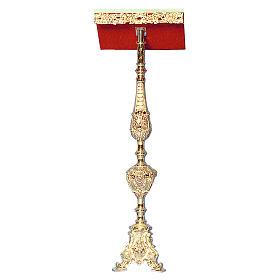 Leggio a stelo ottone fuso oro 24K stile barocco ricco s1