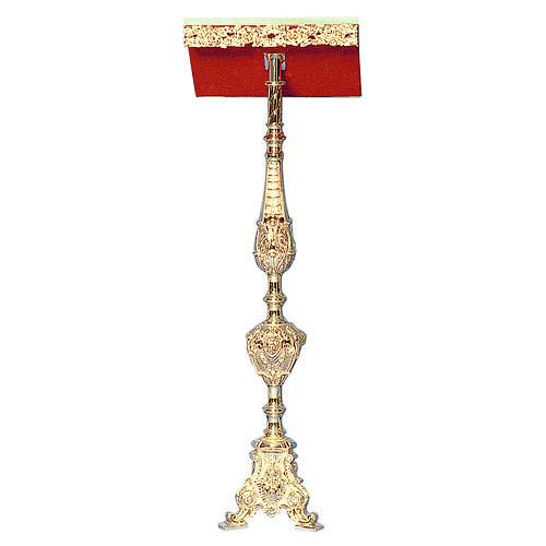 Leggio a stelo ottone fuso oro 24K stile barocco ricco 1