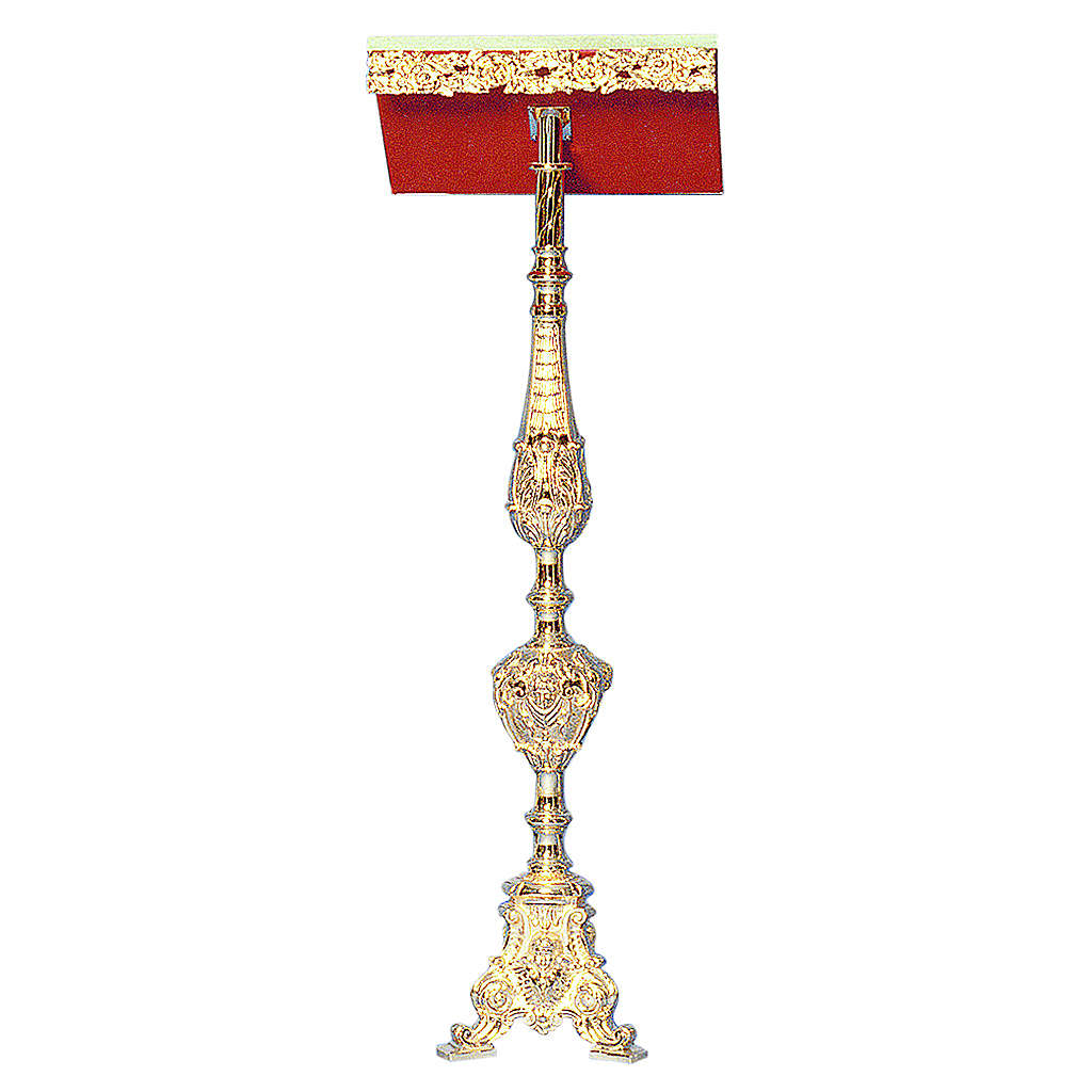 Lectern in 24K gold plated cast brass, baroque style 4