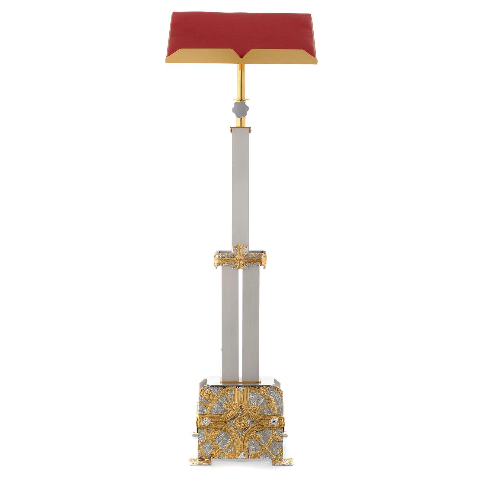 Atril con columna latón cruz estilizada 4