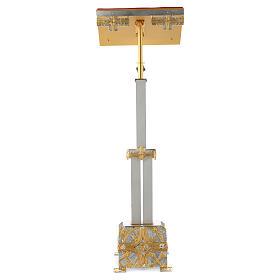 Atril con columna latón cruz estilizada s3