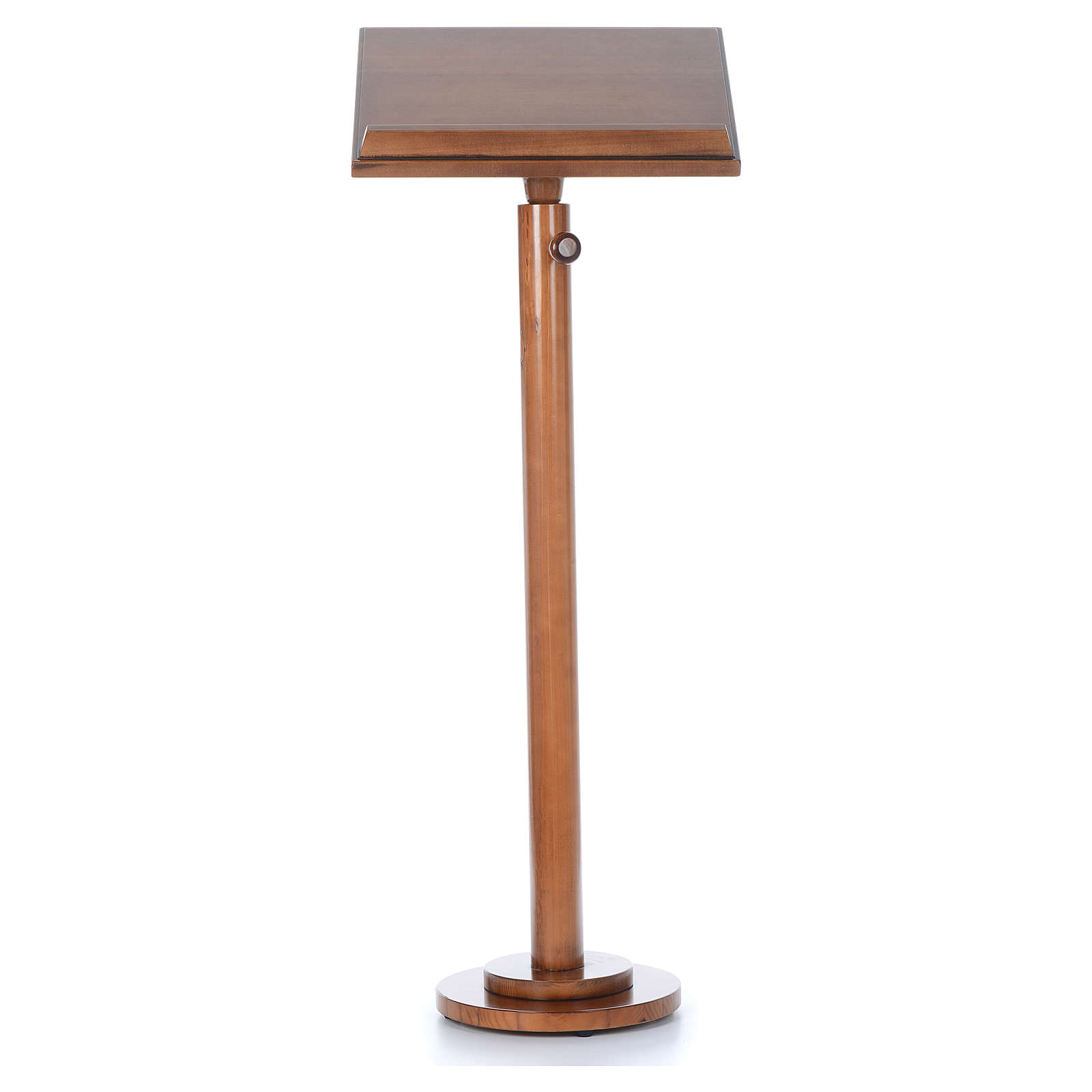 Leggio a colonna base tonda legno marrone chiaro 4