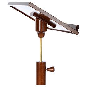 Leggio a colonna base tonda legno marrone chiaro s10