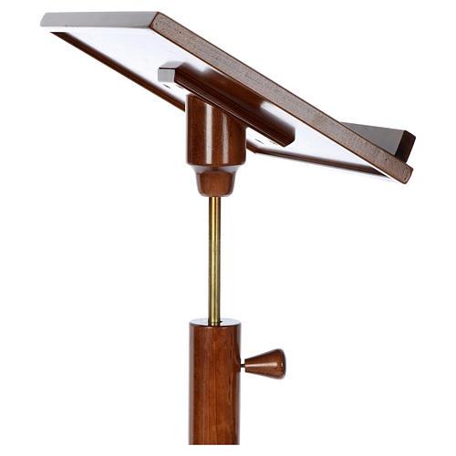 Leggio a colonna base tonda legno marrone chiaro 10