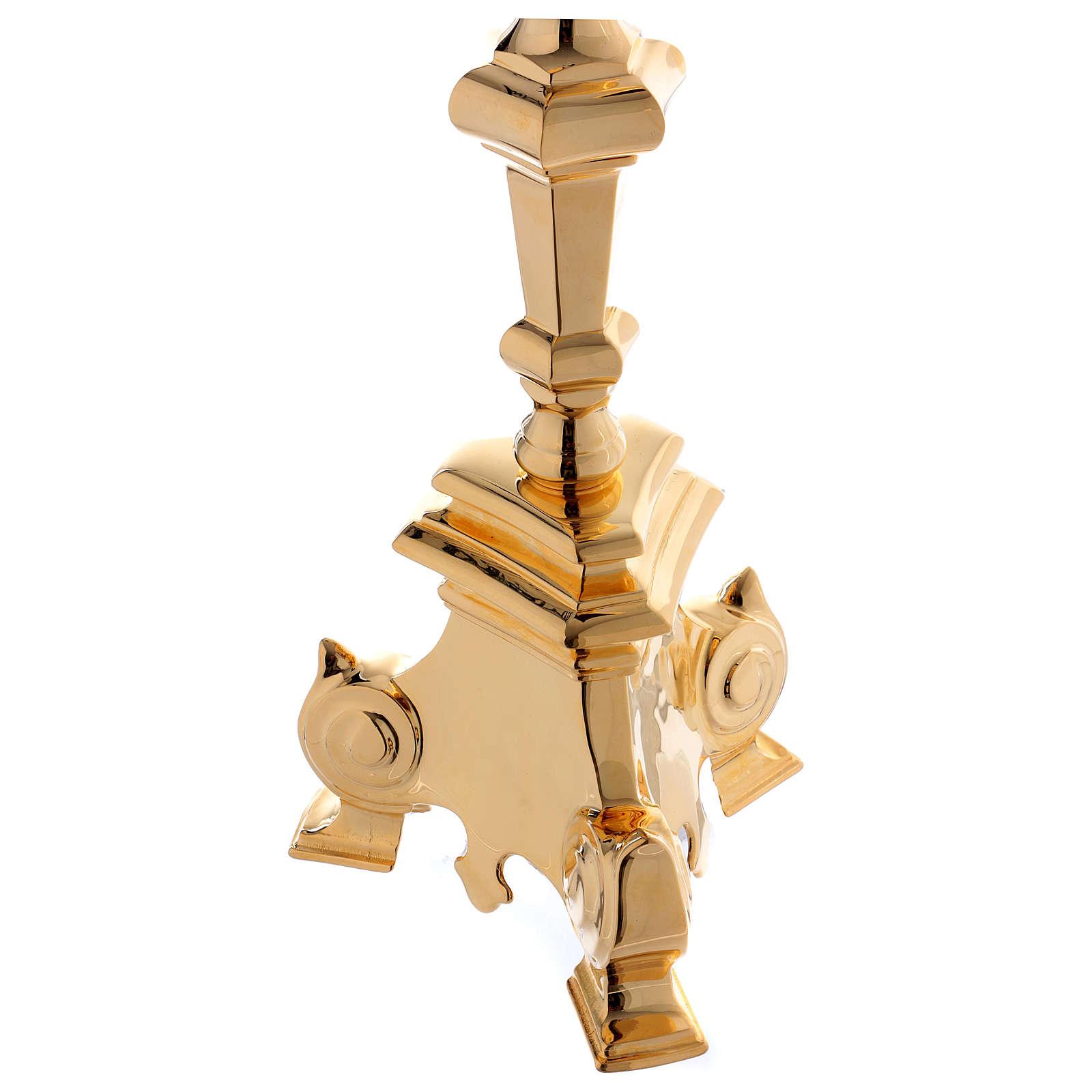 Leggio a colonna ottone barocco oro 150 cm 4