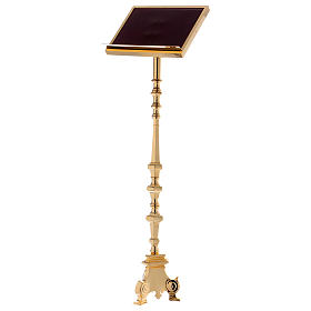 Leggio a colonna ottone barocco oro 150 cm s1