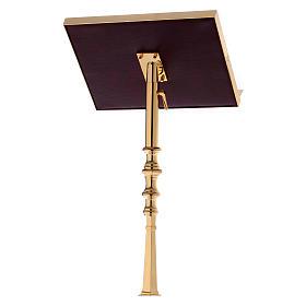 Leggio a colonna ottone barocco oro 150 cm s3