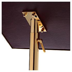 Leggio a colonna ottone barocco oro 150 cm s4