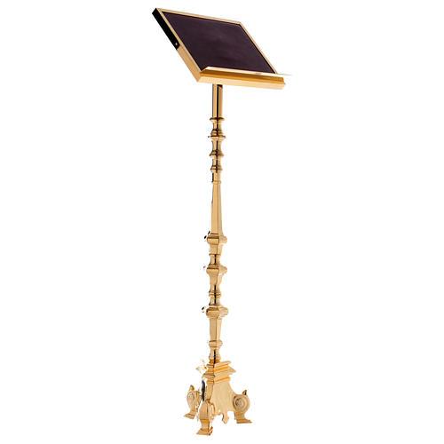 Leggio a colonna ottone barocco oro 150 cm 2