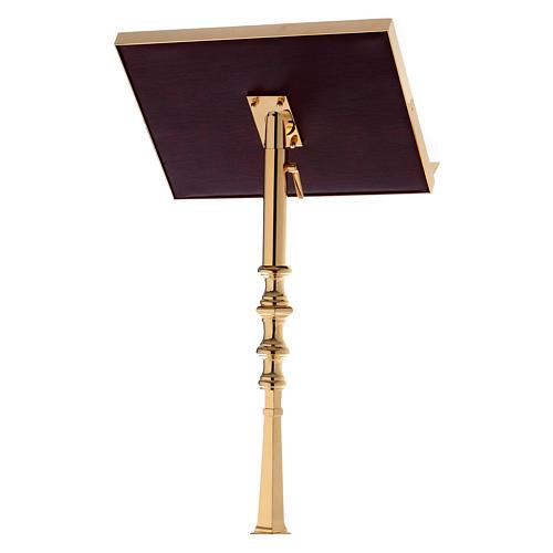 Leggio a colonna ottone barocco oro 150 cm 3