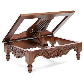 Pupitre de lecture, modèle en bois décoré s3