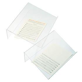 Tischpult Plexiglas, 3 mm Dicke scharfe Kante s1