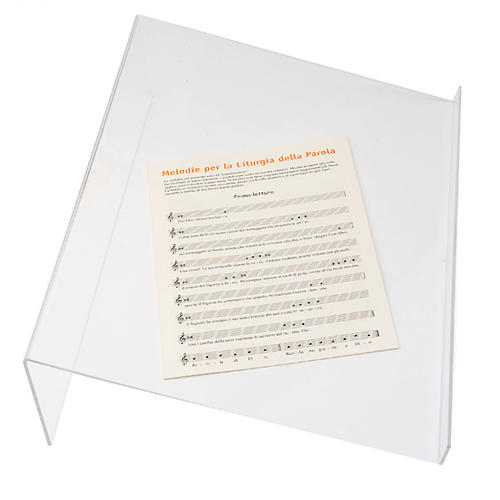 Tischpult Plexiglas, 3 mm Dicke scharfe Kante 3