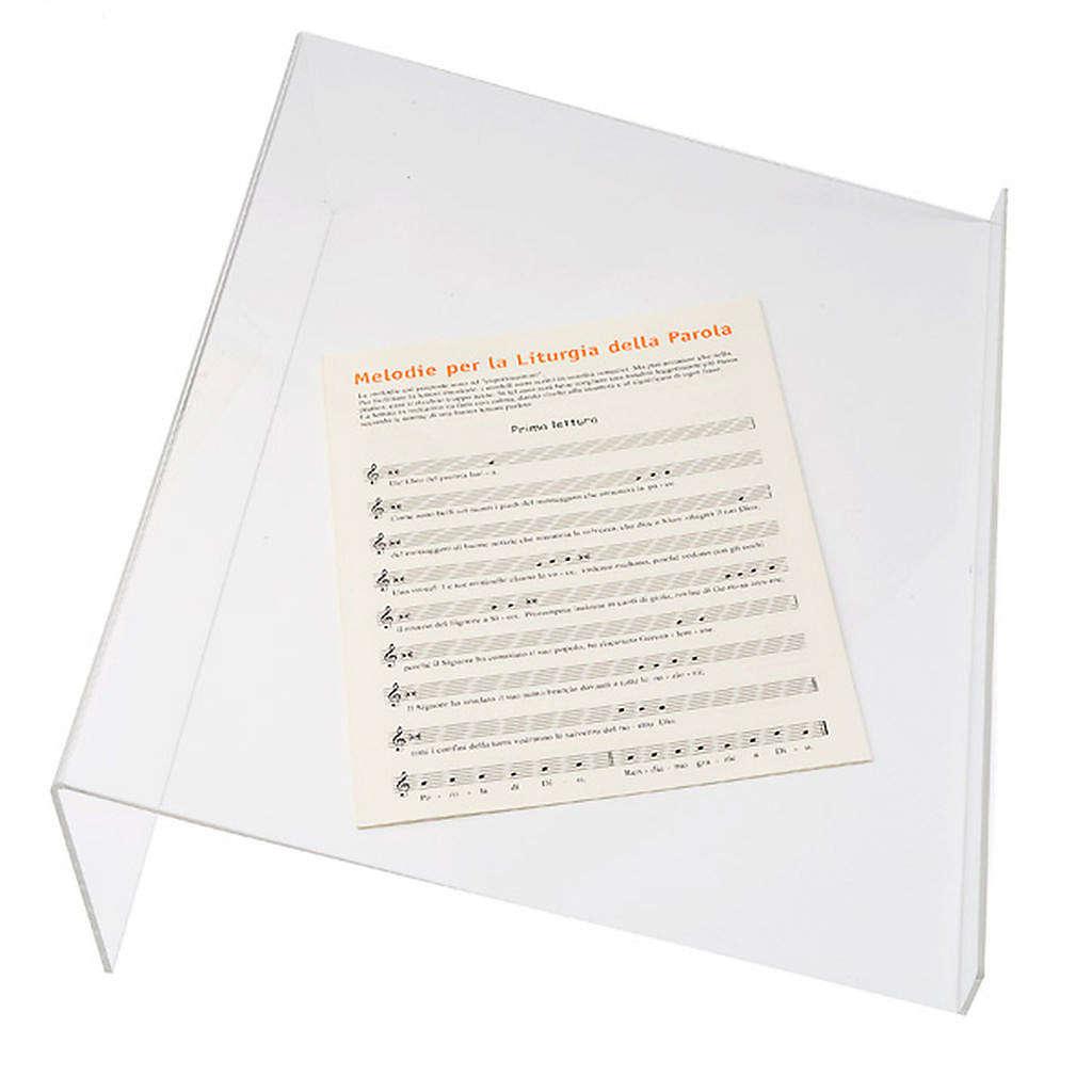 Pupitre de lecture, modèle plexiglas 4