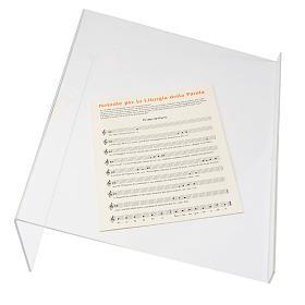 Leggio plexiglass 3 mm taglio vivo s3