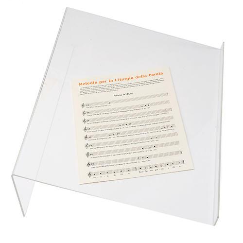 Leggio plexiglass 3 mm taglio vivo 3