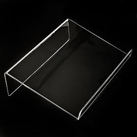 Book stand in plexiglass, 5mm rounded s2