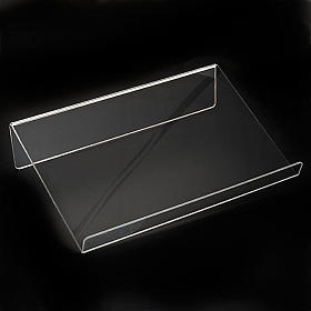 Book stand in plexiglass, 5mm rounded s7