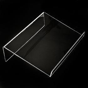 Leggio plexiglass mm 5 stondato s2