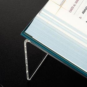 Leggio plexiglass mm 5 stondato s3