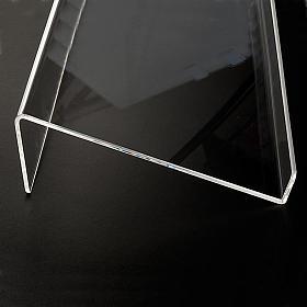 Leggio plexiglass mm 5 stondato s5