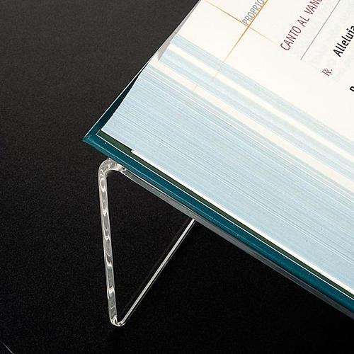 Leggio plexiglass mm 5 stondato 3