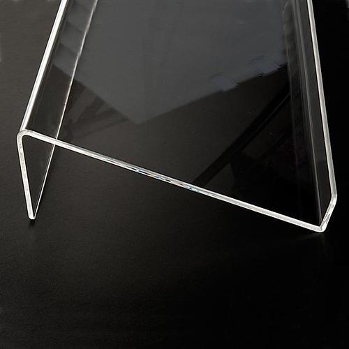 Leggio plexiglass mm 5 stondato 5